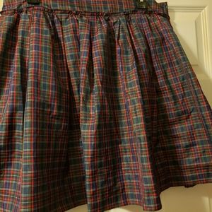 Plaid mini-skirt